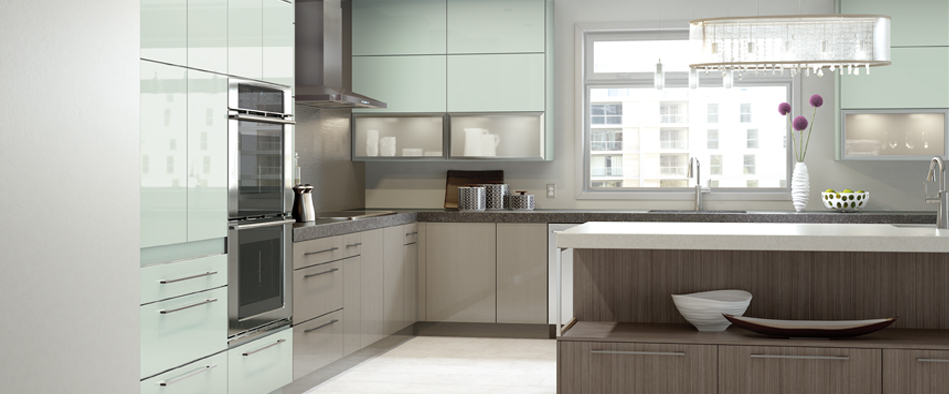 SummitAcrylicGlassGreenKitchen